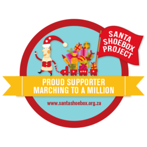Santa Shoebox Digital Supporter Badge PNG