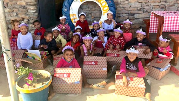 Virtual Santa Shoebox recipients in the Northern Cape